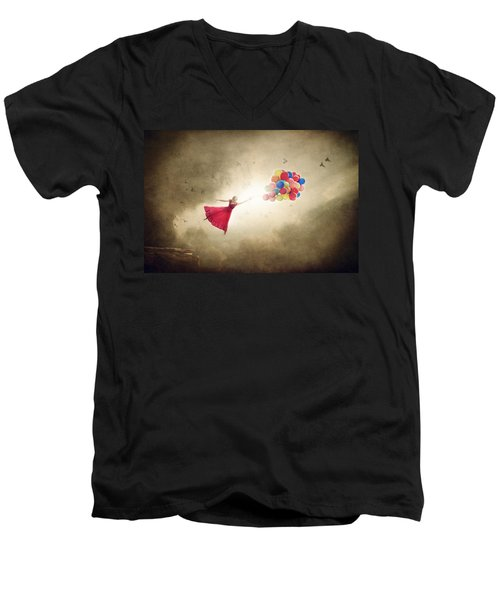 Carried Away Men's V-Neck T-Shirt by Greg Collins