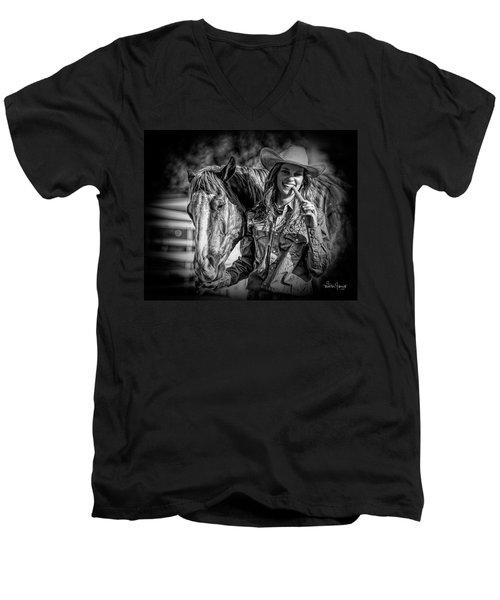 Carrots Cowgirls And Horses  Black Men's V-Neck T-Shirt