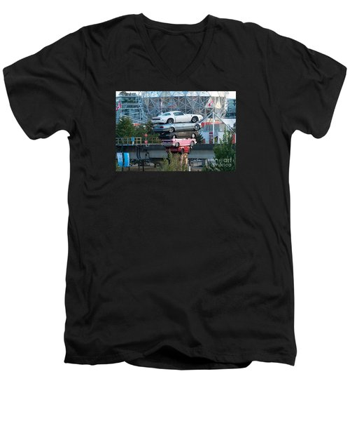 Cars In The Air Men's V-Neck T-Shirt
