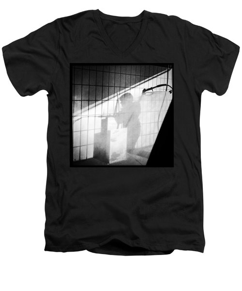 Carwash Shadow And Light Men's V-Neck T-Shirt by Matthias Hauser