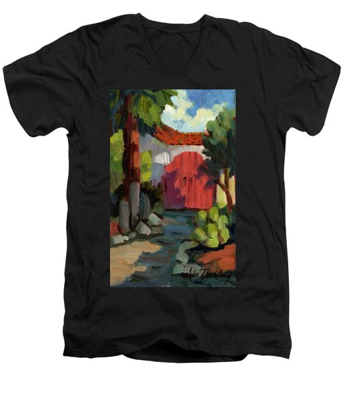 Casa Tecate Gate Men's V-Neck T-Shirt by Diane McClary