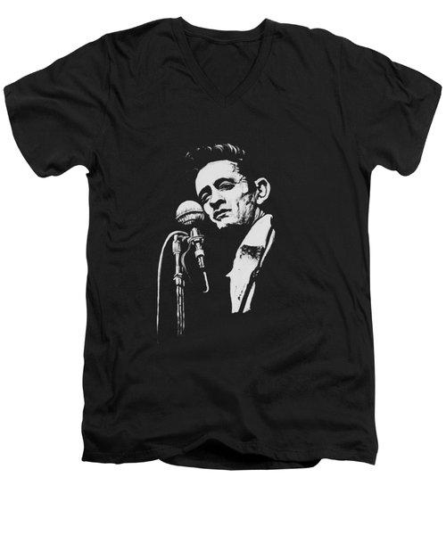Cash T Shirt Print Men's V-Neck T-Shirt