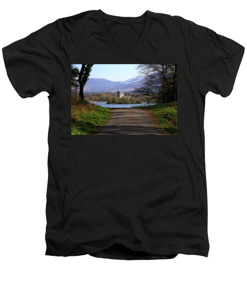 Castle On The Lakes Men's V-Neck T-Shirt