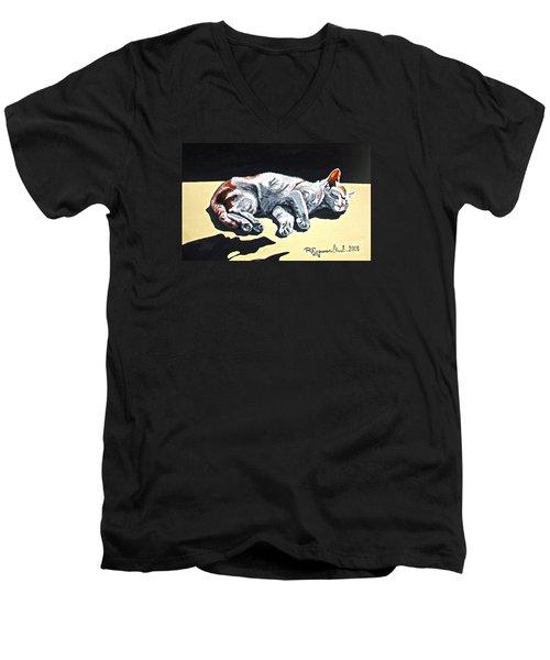 Cat-1 Men's V-Neck T-Shirt