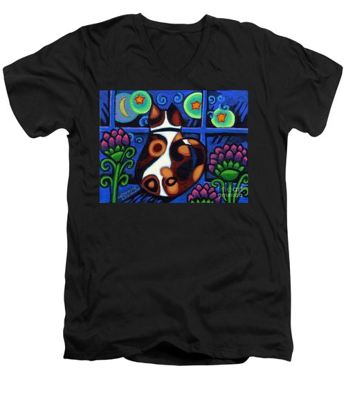 Cat At Window Men's V-Neck T-Shirt