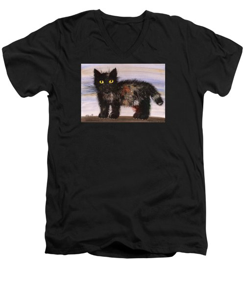 CAT Men's V-Neck T-Shirt