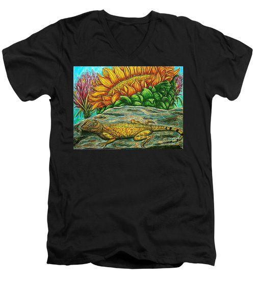Catching Some Rays Men's V-Neck T-Shirt by Kim Jones