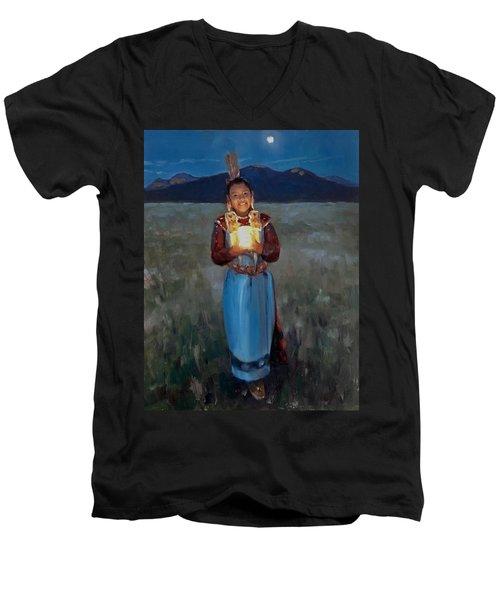 Catching The Moon Men's V-Neck T-Shirt