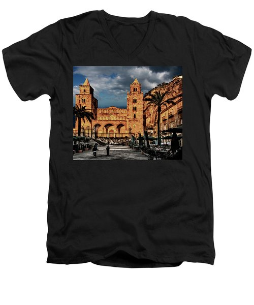Cathedral  Men's V-Neck T-Shirt by Patrick Boening