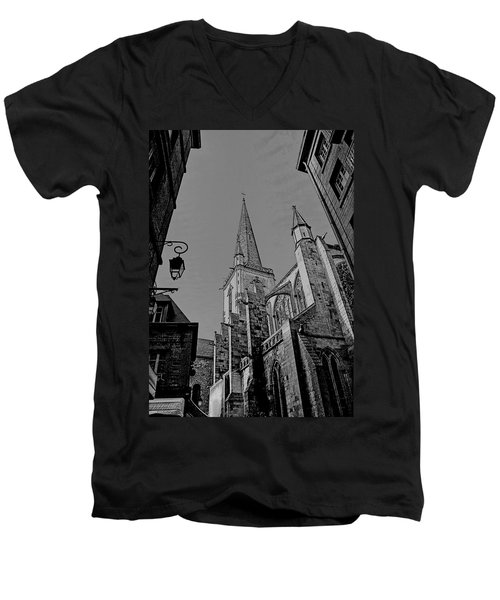 Men's V-Neck T-Shirt featuring the photograph Cathedrale St. Vincent  by Elf Evans