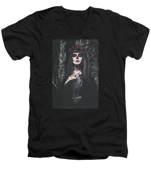 Catrina Day Of The Dead Men's V-Neck T-Shirt