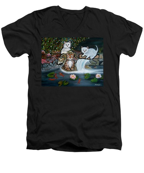 Cats In The Wild Men's V-Neck T-Shirt