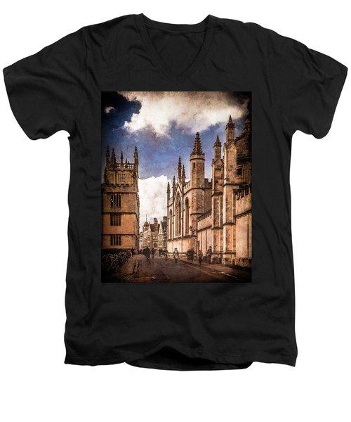 Oxford, England - Catte Street Men's V-Neck T-Shirt