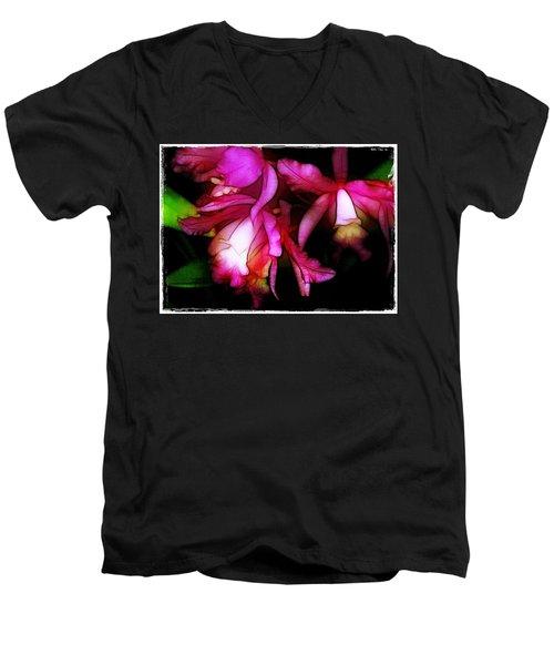 Cattleyas Men's V-Neck T-Shirt by Judi Bagwell