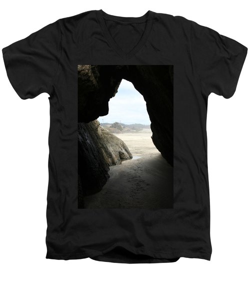Men's V-Neck T-Shirt featuring the photograph Cave Dweller by Holly Ethan