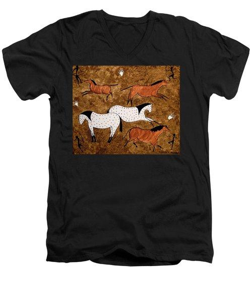 Cave Horses Men's V-Neck T-Shirt