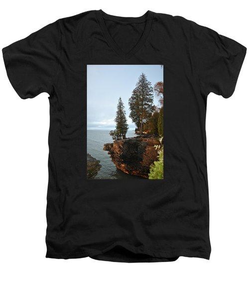 Cave Point Men's V-Neck T-Shirt