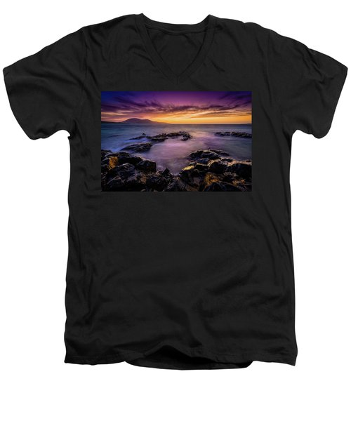 Ceapabhal And Traigh Mohr, Isle Of Harris Men's V-Neck T-Shirt