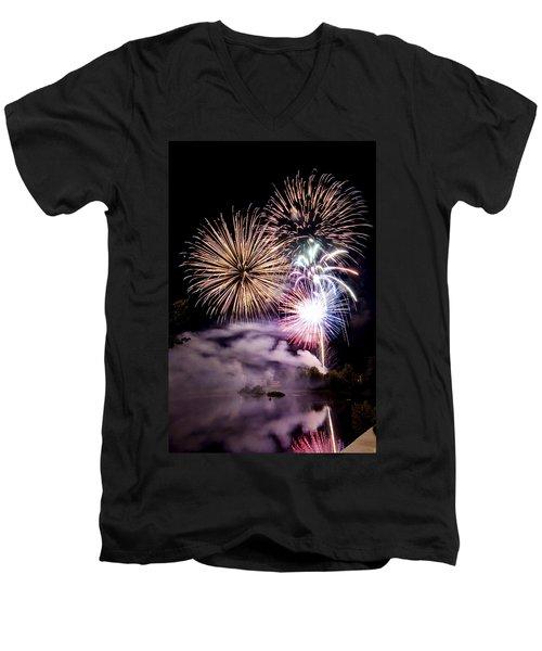 Celebration Men's V-Neck T-Shirt by Greg Fortier