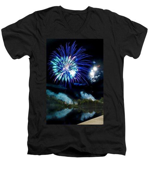 Celebration II Men's V-Neck T-Shirt by Greg Fortier