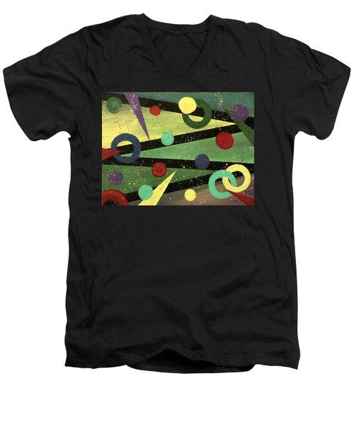 Celebration Men's V-Neck T-Shirt by Teresa Wing