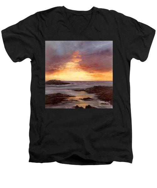 Celebration Men's V-Neck T-Shirt by Valerie Travers