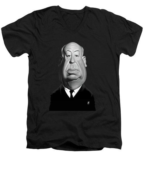 Celebrity Sunday - Alfred Hitchcock Men's V-Neck T-Shirt