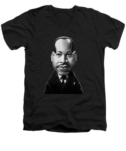 Celebrity Sunday - Martin Luther King Men's V-Neck T-Shirt
