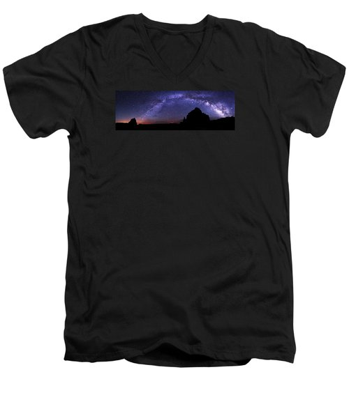 Celestial Arch Men's V-Neck T-Shirt by Chad Dutson