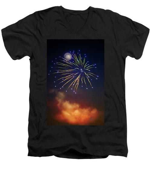 Celestial Celebration  Men's V-Neck T-Shirt