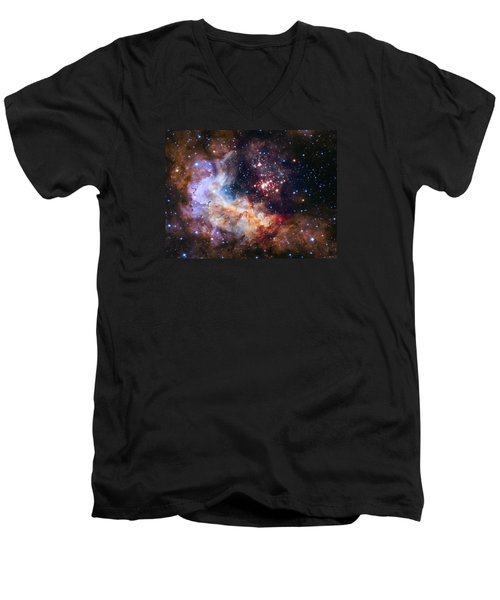 Celebrating Hubble's 25th Anniversary Men's V-Neck T-Shirt by Nasa