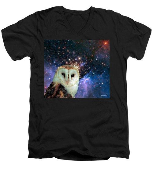 Celestial Nights Men's V-Neck T-Shirt by Robert Orinski
