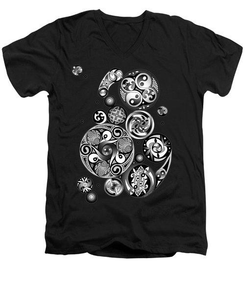 Celtic Clockwork Men's V-Neck T-Shirt by Kristen Fox
