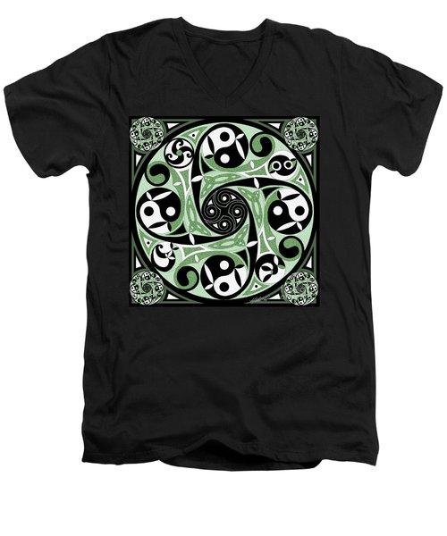 Celtic Spiral Stepping Stone Men's V-Neck T-Shirt