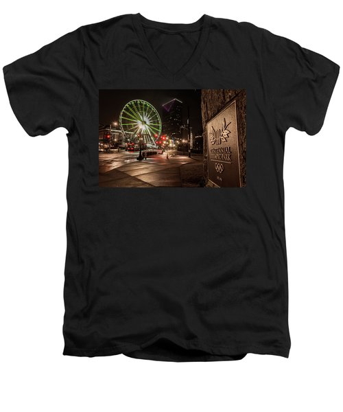Centennial Park 2 Men's V-Neck T-Shirt