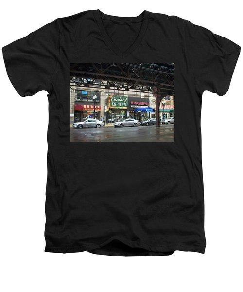 Central Camera On Wabash Ave  Men's V-Neck T-Shirt