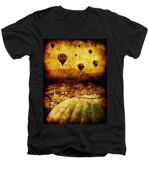 Cerebral Hemisphere Men's V-Neck T-Shirt