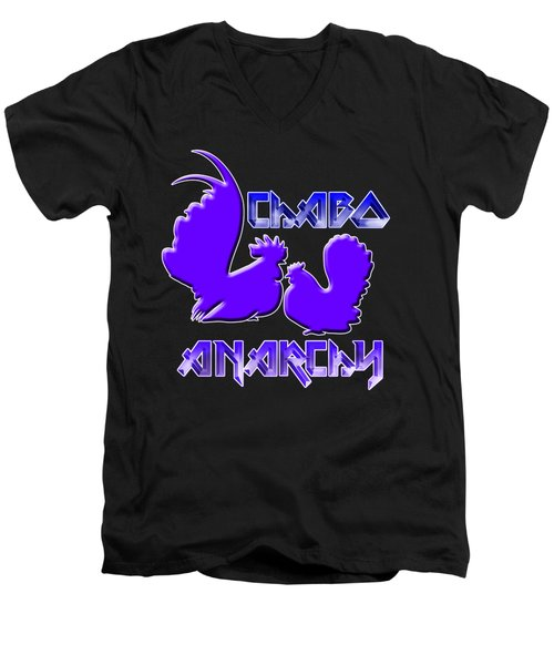 Chabo Anarchy Bluepurple Men's V-Neck T-Shirt