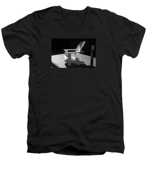 Chair In Black And White Men's V-Neck T-Shirt by Nareeta Martin