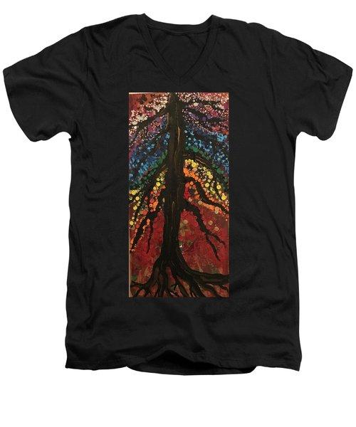 Chakra Tree Men's V-Neck T-Shirt
