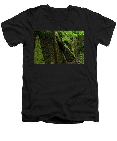 Chamberlain Falls  Men's V-Neck T-Shirt
