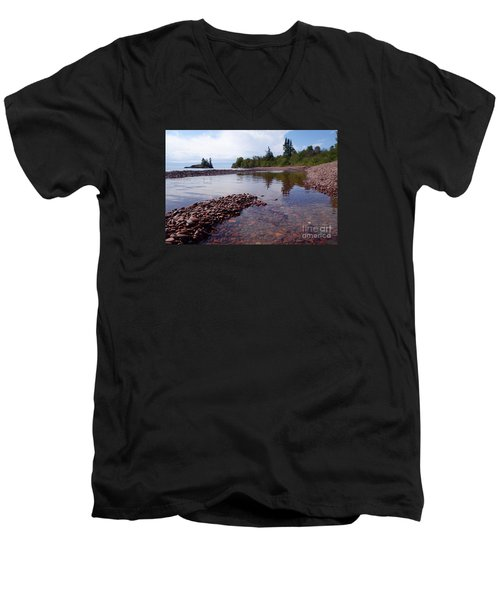 Men's V-Neck T-Shirt featuring the photograph Changing Channels by Sandra Updyke