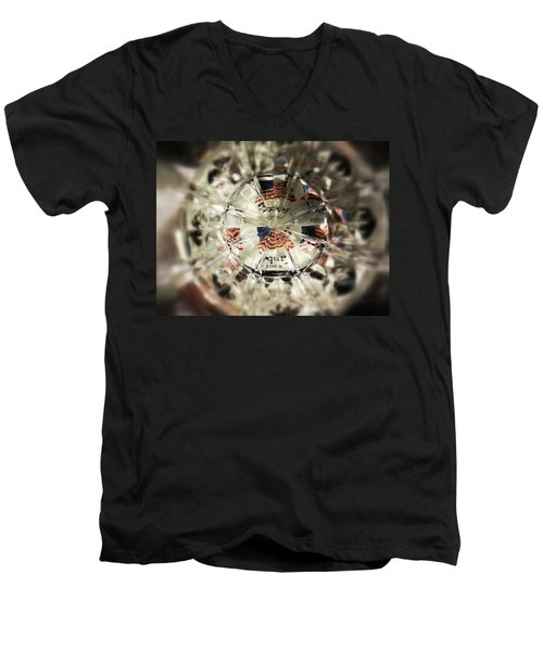 Men's V-Neck T-Shirt featuring the photograph Chaotic Freedom by Robert Knight