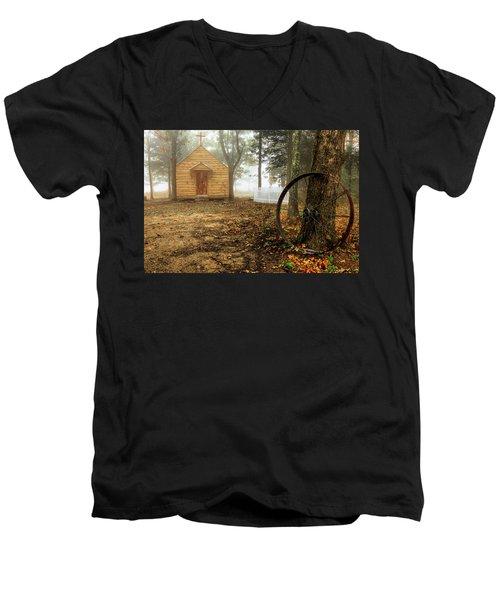 Chapel In The Woods 1 Men's V-Neck T-Shirt
