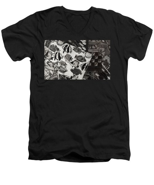 Charcoal Chaos Men's V-Neck T-Shirt