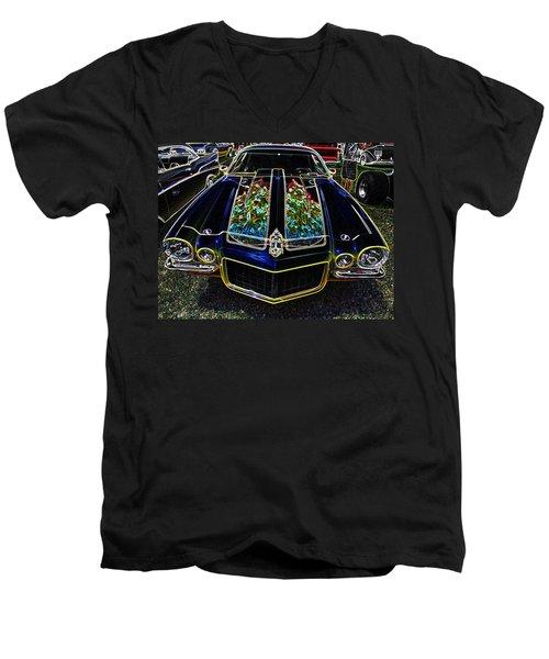Charged Up Camaro Men's V-Neck T-Shirt