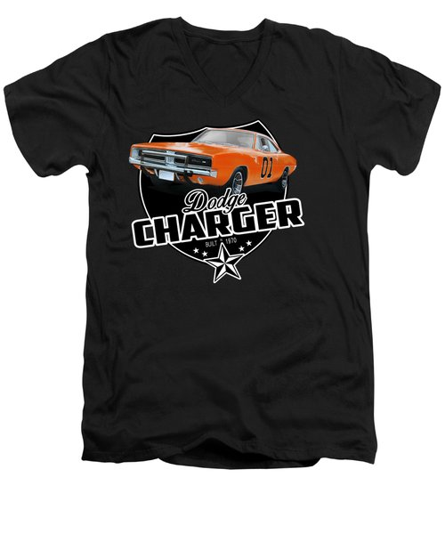 Charger From 1970 Men's V-Neck T-Shirt