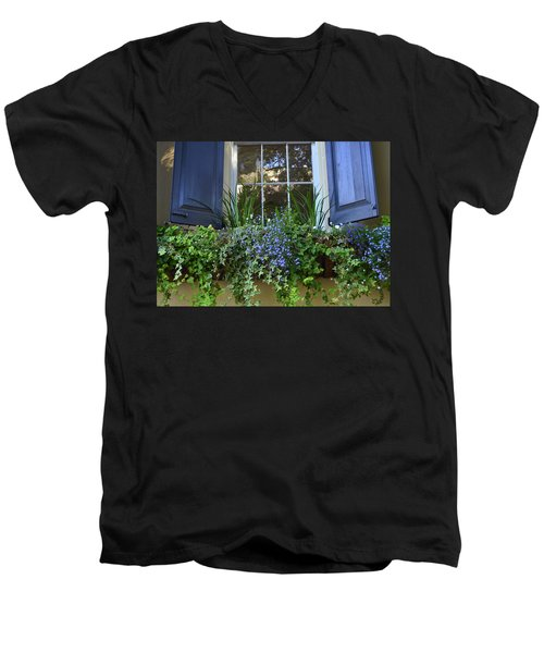 Charleston Flower Box 3 Men's V-Neck T-Shirt