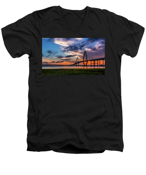 Men's V-Neck T-Shirt featuring the photograph Charleston by RC Pics