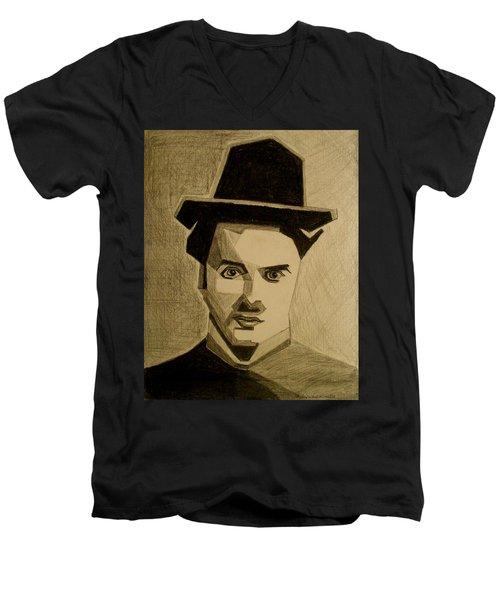 Charlie Chapplin Men's V-Neck T-Shirt